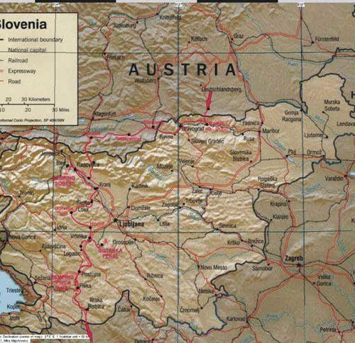 Do Albanii 2009 - trasa przez Słowenię