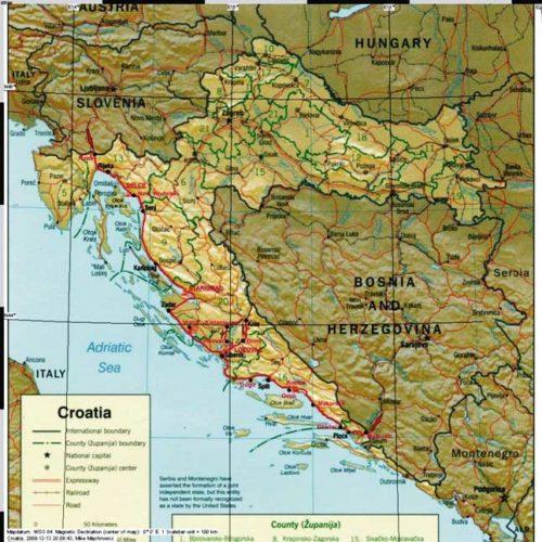 Do Albanii 2009 - trasa przez Chorwację