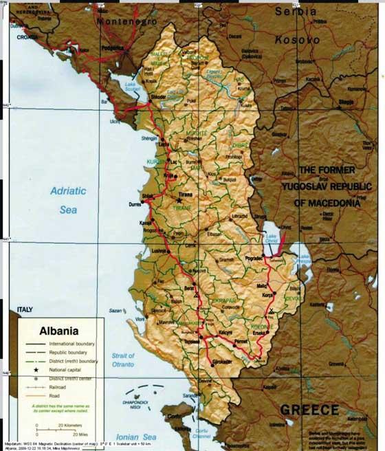 Do Albanii 2009 - trasa przez Albanię