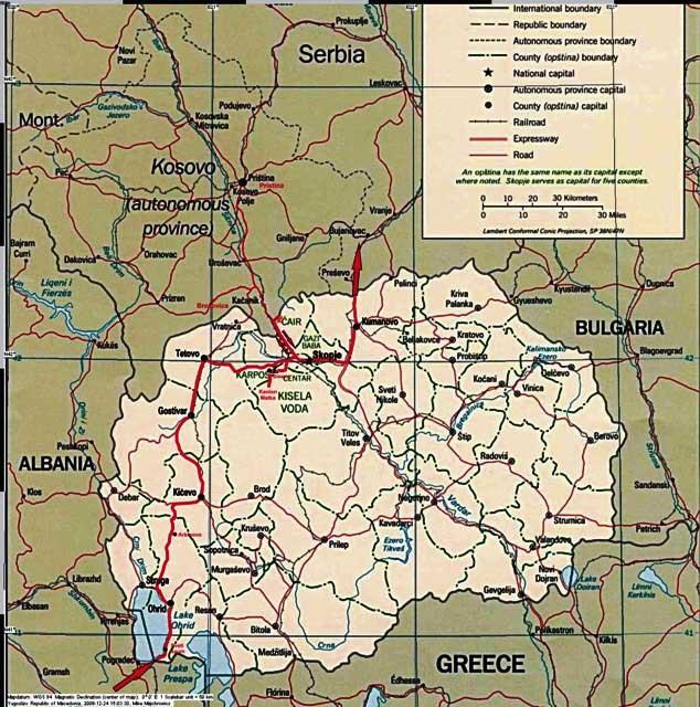 Do Albanii 2009 - trasa przez Macedonię