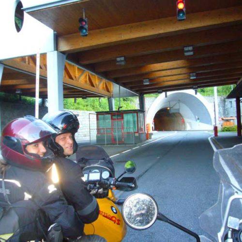 Do Albanii 2009 - tunelowa granica Austria-Słowenia