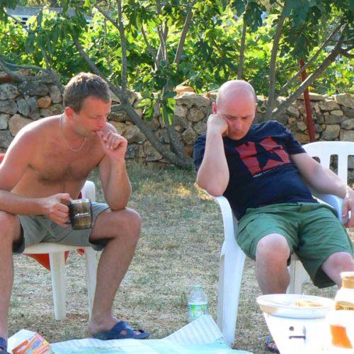 Do Albanii 2009 - obmyślanie dalszego planu trasy