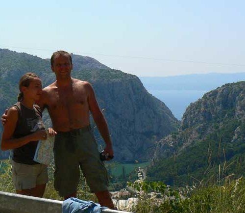 Do Albanii 2009 - Omiš, kanion rzeki Cetinie w Chorwacji