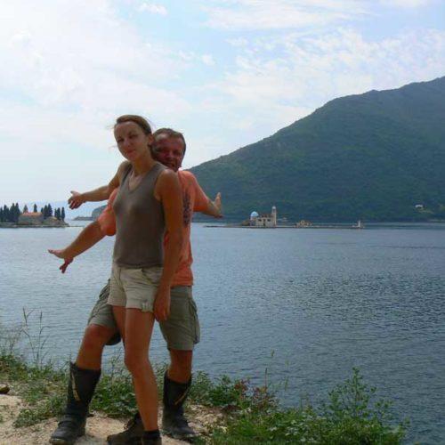 Do Albanii 2009 - klasztory na Boce Kotorskiej w Czarnogórze