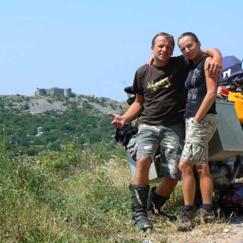Do Albanii 2009 - zamek Brajići w Czarnogórze