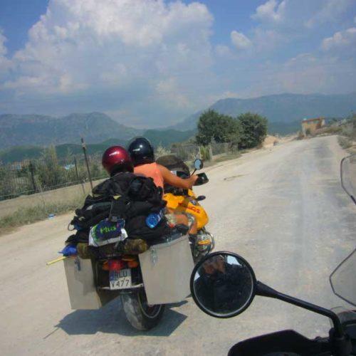 Do Albanii 2009 - droga do Kruji w Albanii