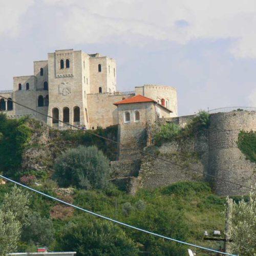 Do Albanii 2009 - zamek w Kruji, Albania