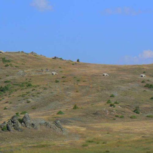 Do Albanii 2009 - albańskie bunkry w drodze do Macedonii