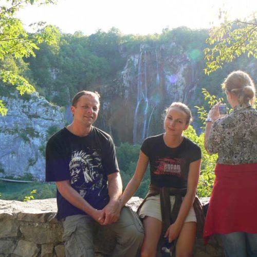 Do Albanii 2009 - Vielki Slap w Parku Narodowym Plitwickie Jeziora w Chorwacji