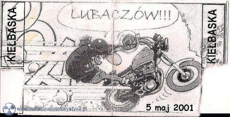 Klub Motocyklowy Radiator Lubaczów - bilet zlotowy