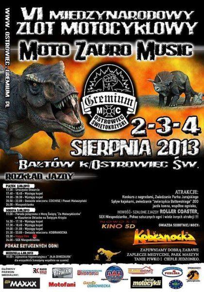 VI Międzynarodowy Zlot Motocyklowy Moto Zauro Music 2013