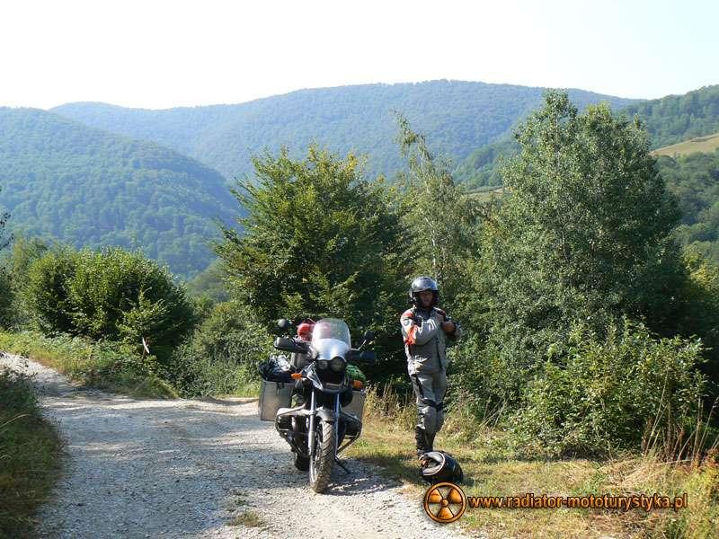 Wyprawa motocyklowa – Bułgarski Bastion Komunizmu - bezkolizyjny powrót na niemal poziomy kawałek drogi