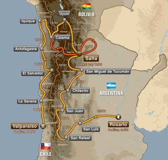 Trasa Rajdu Dakar 2014