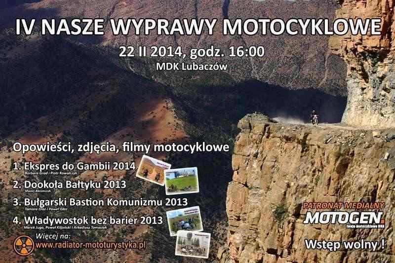 IV Nasze Wyprawy Motocyklowe 2014
