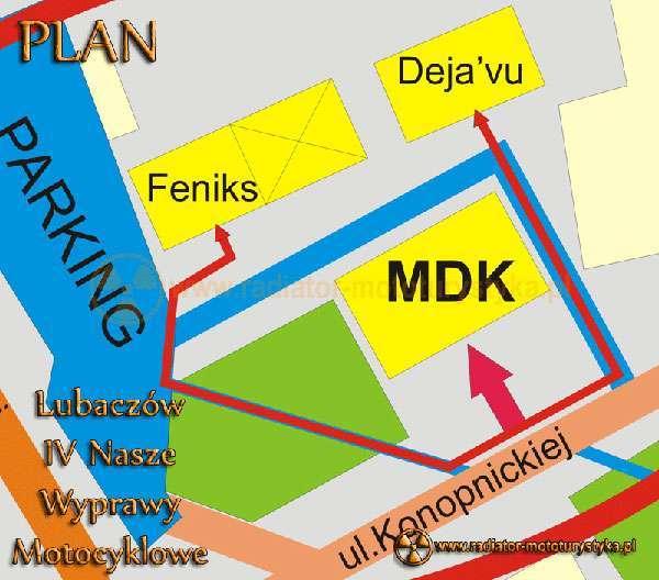 Plan sytuacyjny części oficjalnej i nieoficjalnej