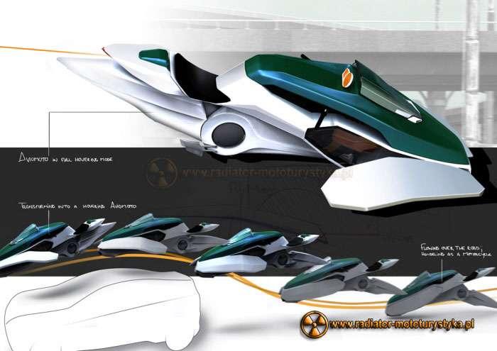 Aviomoto - latający motocykl