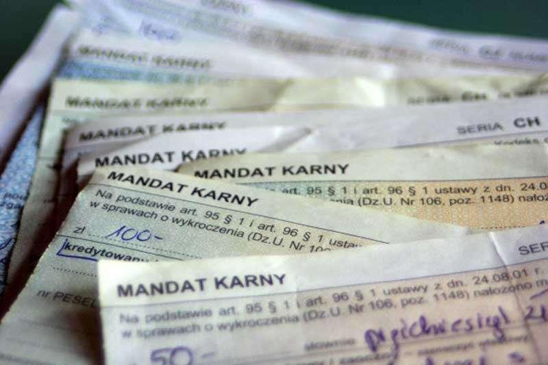 Mandat karny / fot. mmsilesia.pl