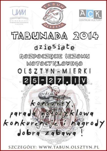X zlot motocyklowy - Tabunada 2014
