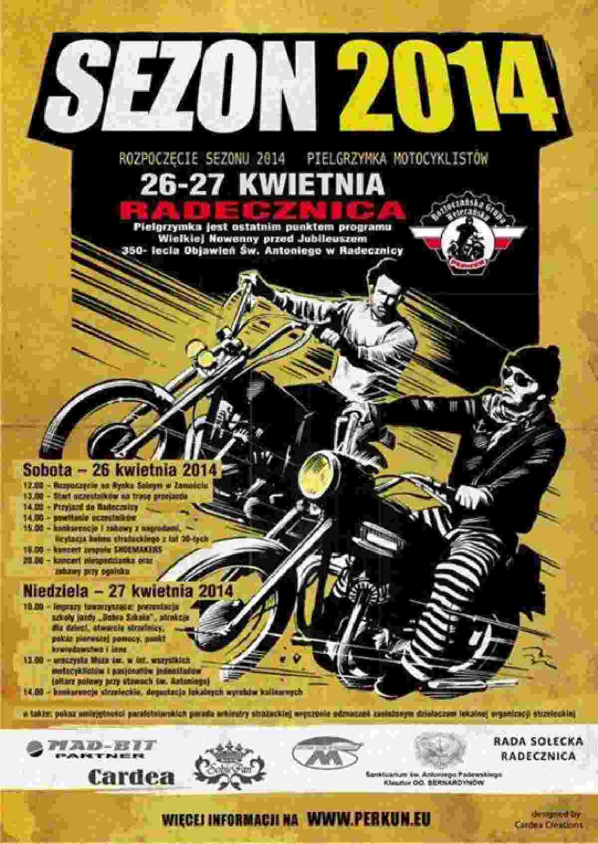 Rozpoczęcie sezonu, pielgrzymka motocyklistów - Radecznica