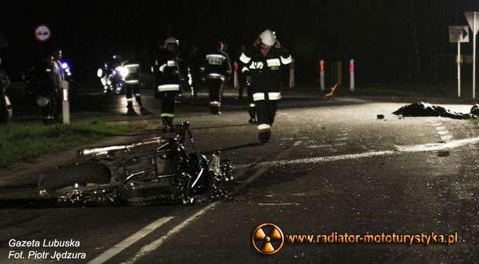 Zginął motocyklista pod Zieloną Górą.