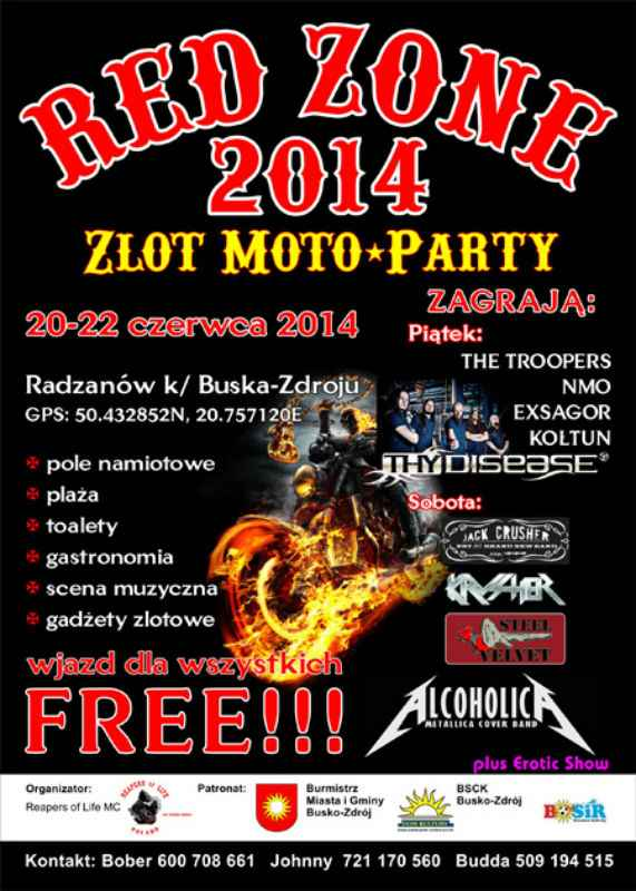 I Zlot Motocyklowy 20-22.06.2014 – Busko Zdrój