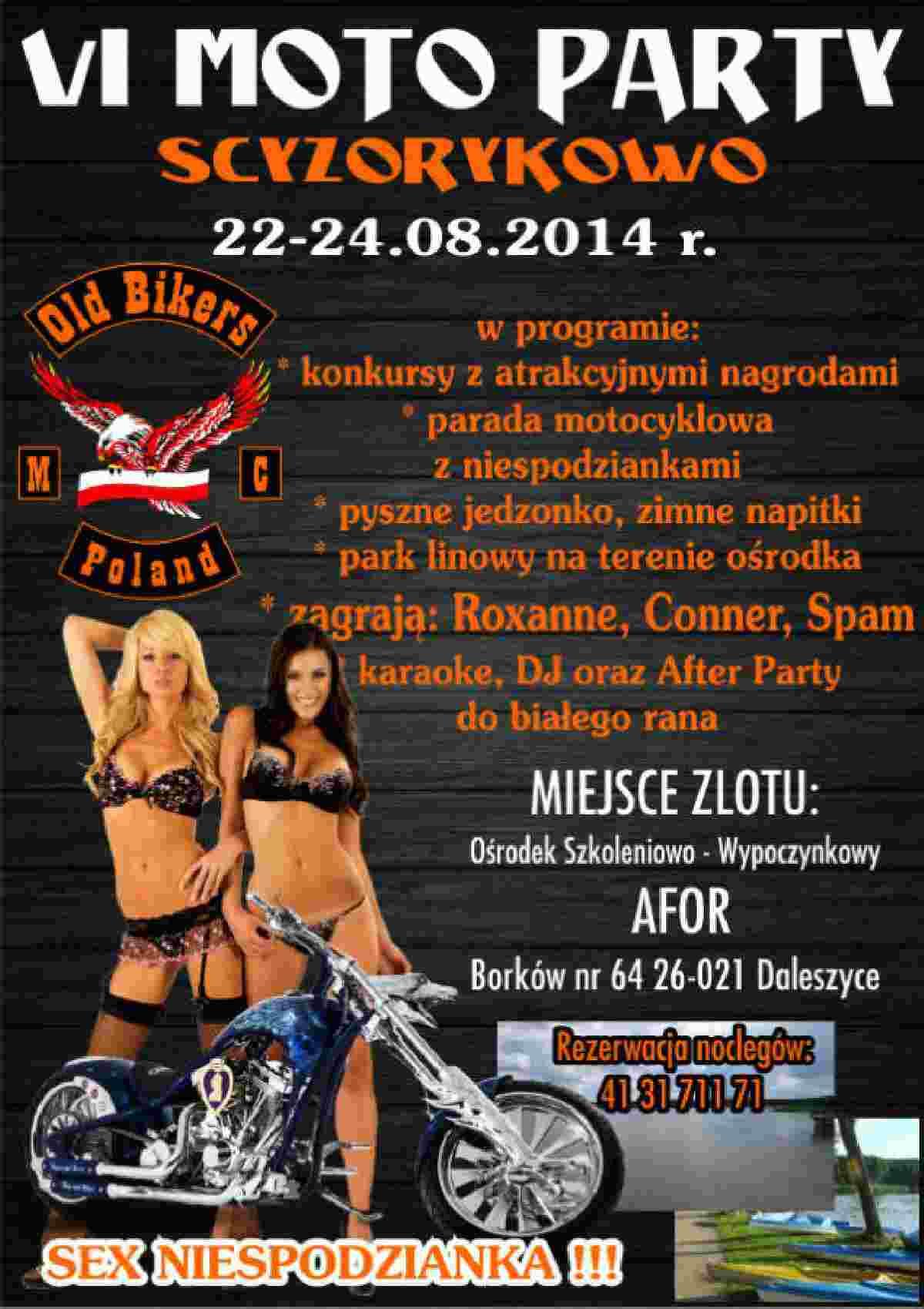 VI Moto Party Scyzorykowo 22-24.08.2014 – Borków