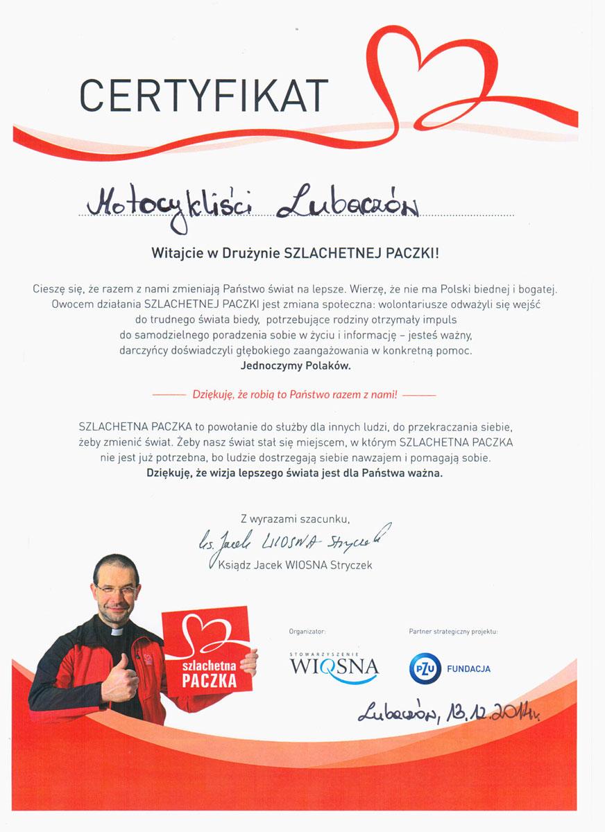 Certyfikat-Motocykliści-Szlachetna-Paczka-2014-www