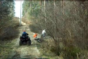 quadowcy i croosowcy w lesie