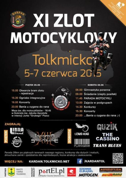XI Międzynarodowy Zlot Motocyklowy – 05-07.06.2015 Tolkmicko