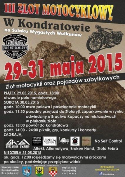 III Zlot na Szlaku Wygasłych Wulkanów – 29-31.05.2015 Kondratów