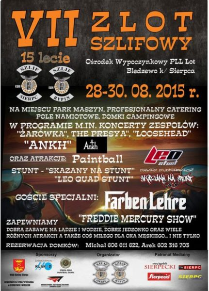 VII Zlot SZLIF-owy – 28-30.08.2015 Bledzewo k. Sierpca