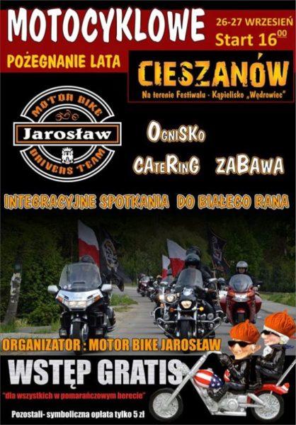Motocyklowe Pożegnanie Lata – 26-27.09.2015 Cieszanów