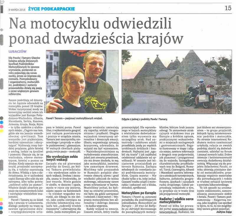 VI Nasze Wyprawy Motocyklowe - artykuł - życie podkarpackie