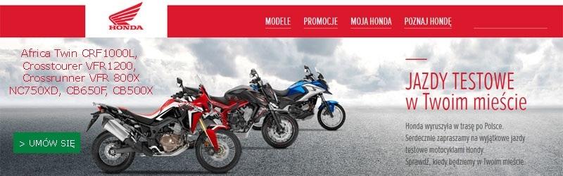 Jazdy testowe motocykli Honda 2016