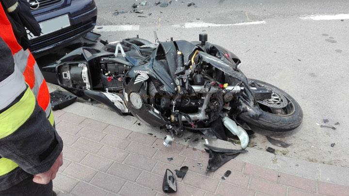 Wypadek z udziałem motocyklisty w Lubaczowie