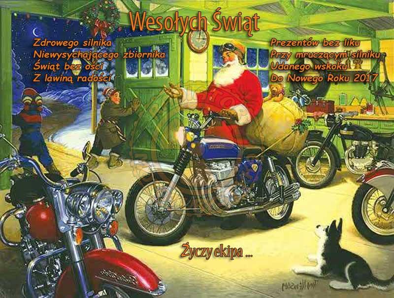 Wesołych Świąt oraz szerokości i przyczepności w Nowym 2017 Roku! życzy Radiator Mototurystyka