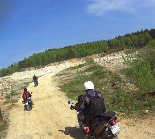 Lubaczów i Roztocze Wschodnie motocyklem - kamieniołom w Bruśnie
