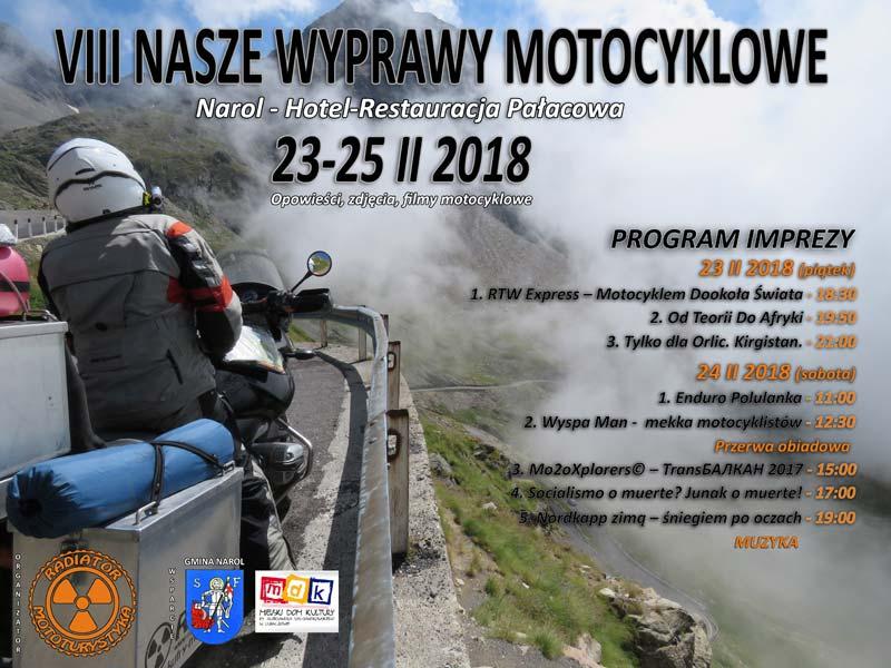 VIII Nasze Wyprawy Motocyklowe - plakat - program