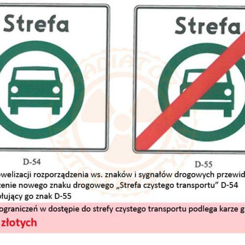 Nowy znak drogowy - strefa czystego transportu