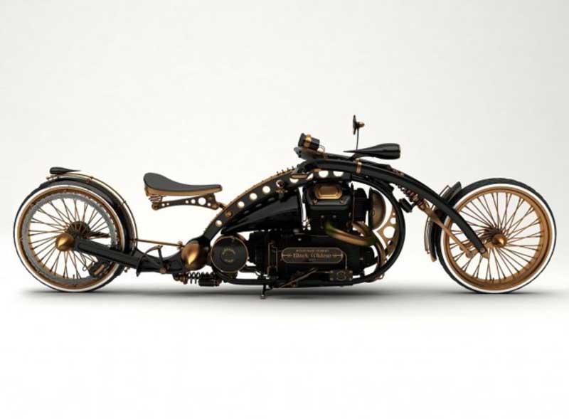 Motocykl Black Widow