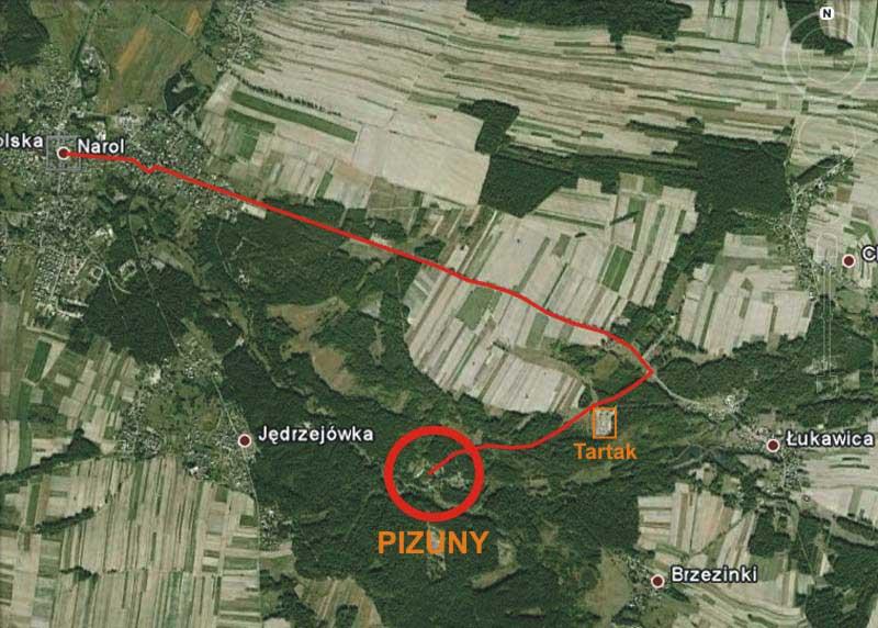 Mapa Pizuny