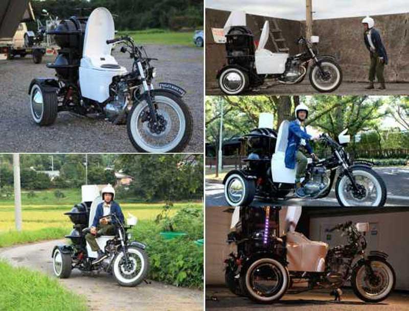 Motocykl toaleta. Projekt Toto.