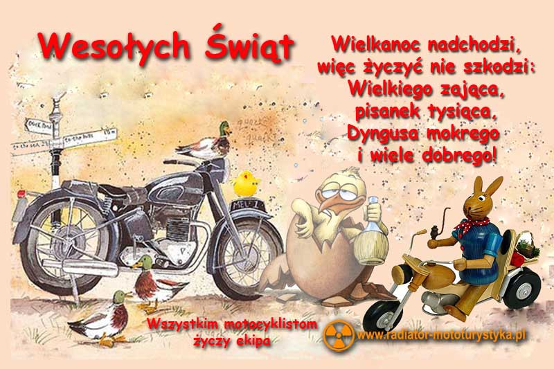 Wielkanocne życzenia dla motocyklistów