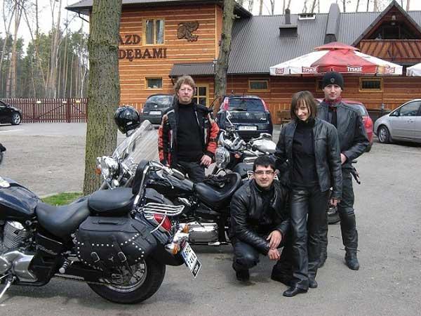 Motocykliści w drodze do Częstochowy