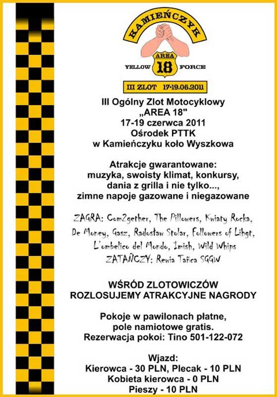 III Ogólny Zlot Motocyklowy Area 18, Kamieńczyk k. Wyszkowa