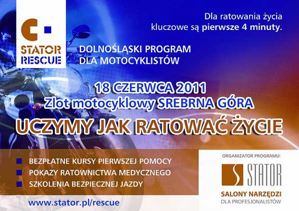 Zlot Motocyklowy Forty Srebrna Góra-uczymy ratować