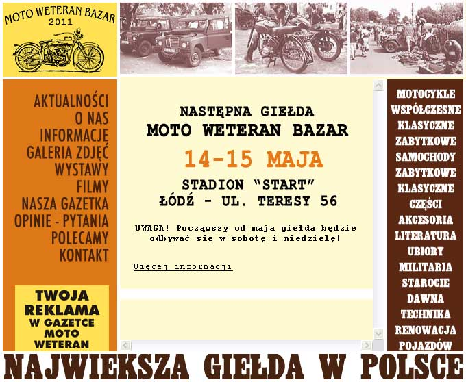 Moto Weteran Bazar - Łódź - maj 2011