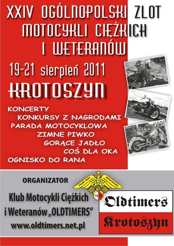 Zlot Motocykli Ciężkich i Weteranów - Krotoszyn 2011
