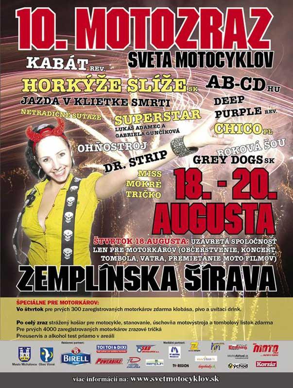 Zlot motocyklowy Zemplinska Sirava 2011