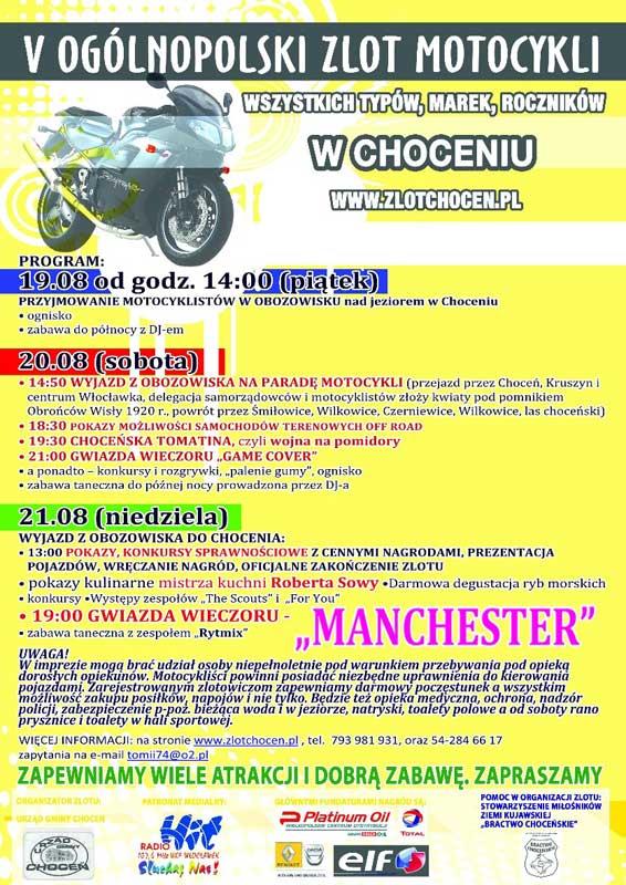 Zlot motocykli w Choceniu 2011